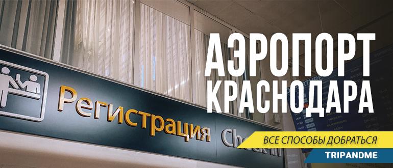Едем в город из аэропорта Краснодара