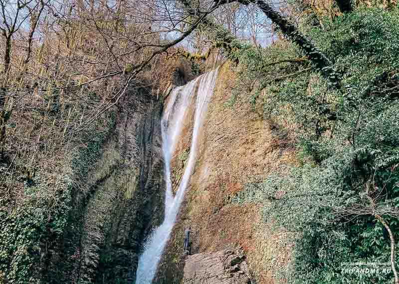 Ореховский водопад в феврале 2021 года