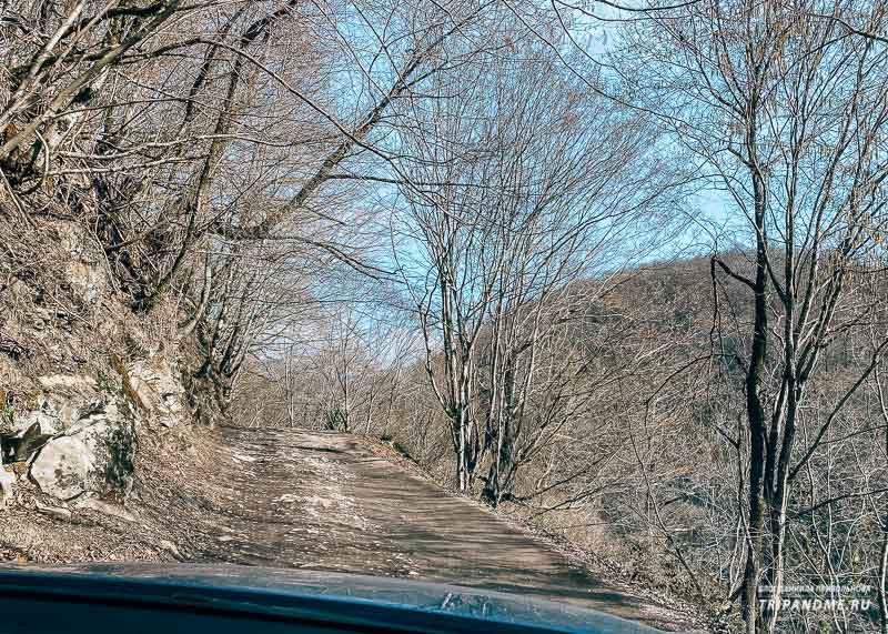 Дорога к Ореховскому водопаду