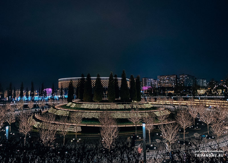 Вид на парк Галицкого и стадион Краснодар