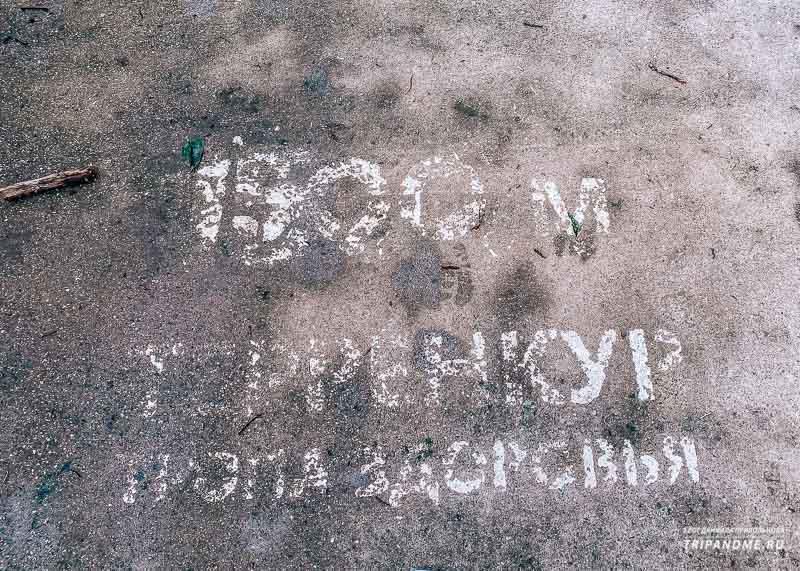 Многие надписи на Тропе здоровья почти невозможно прочитать