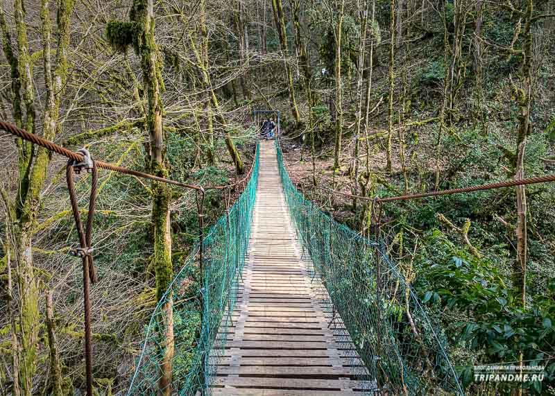 Подвесной мост на маршруте