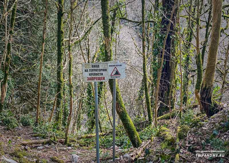Таблички запрещают изучать руины Хостинской крепости
