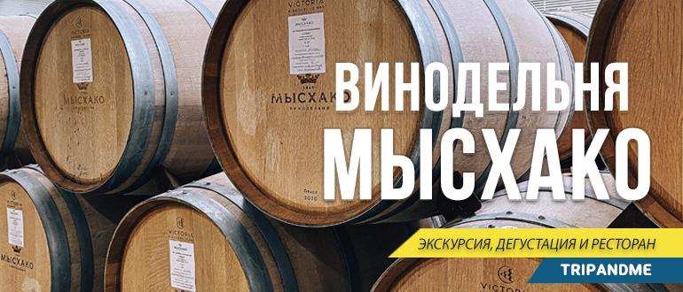 Экскурсия по винному заводу Мысхако
