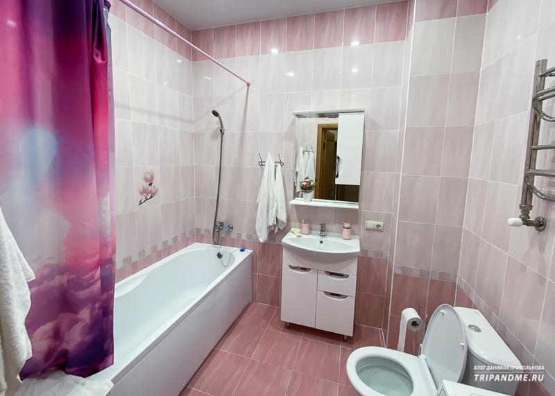 Ванная комната в съемной квартире