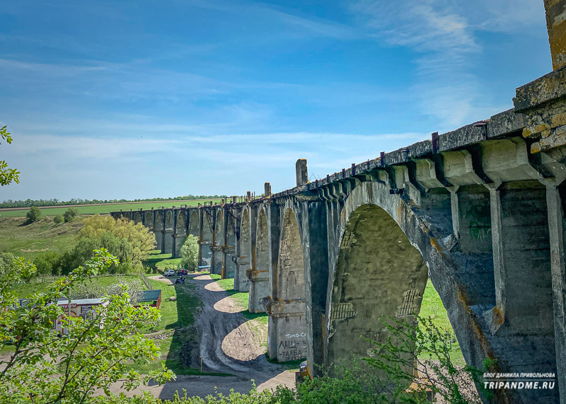 Вид на Мокринский мост со стороны холма