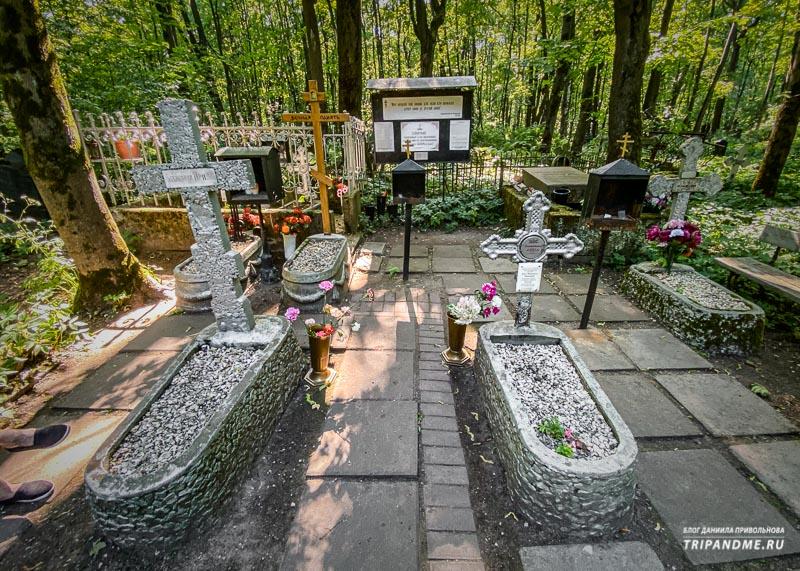 Могилы блаженных на Смоленском кладбище