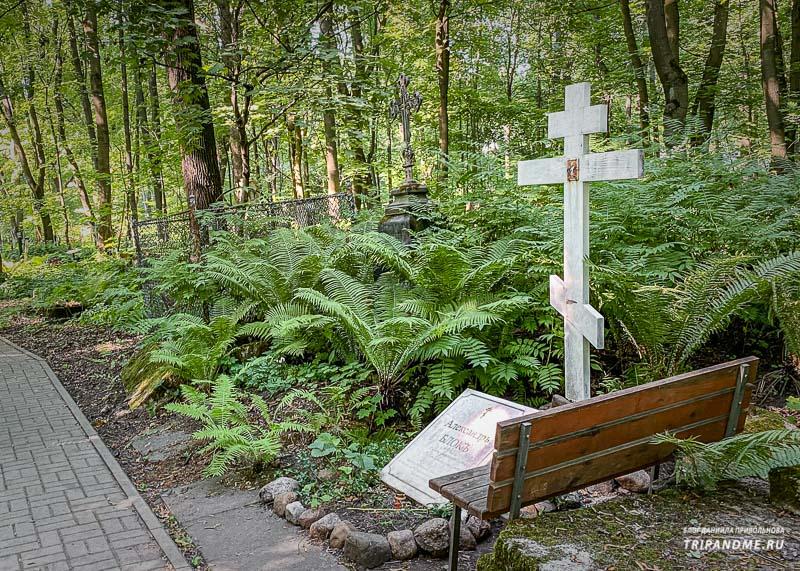 Могила Александра Блока на Смоленском кладбище