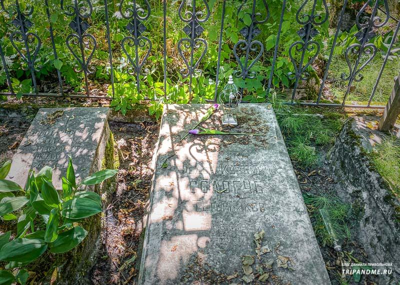 Могила писателя Федора Сологуба на Смоленском кладбище