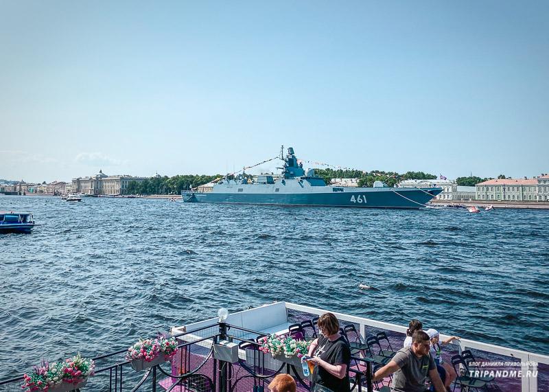 Репетиция дня ВМФ в Санкт-Петербурге 2021 года