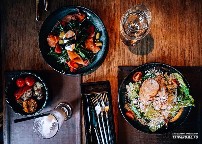 Блюда ресторана Цех