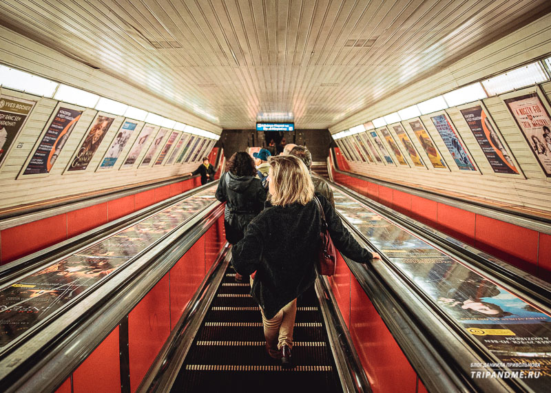 Эскалатор в метро Будапешта