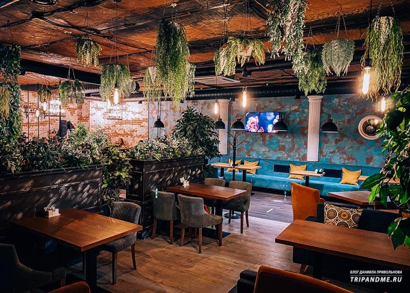 Интерьер ресторана Цех в Краснодаре