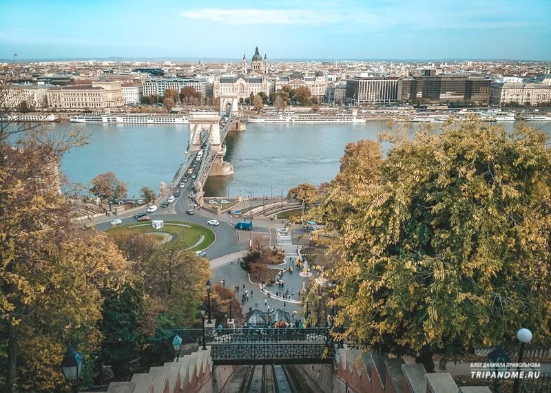 Вид с Буды на Будапешт в октябре