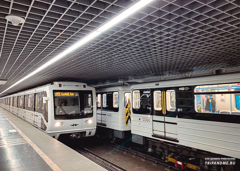 Обновленные вагоны синей ветки метро Будапешта